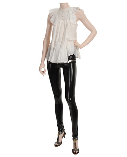 15ba036f9e7 Try wearing your leggings with ultra feminine details. Pretty lace blouses