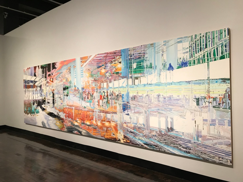 Large painting in Frist Museum Gallery