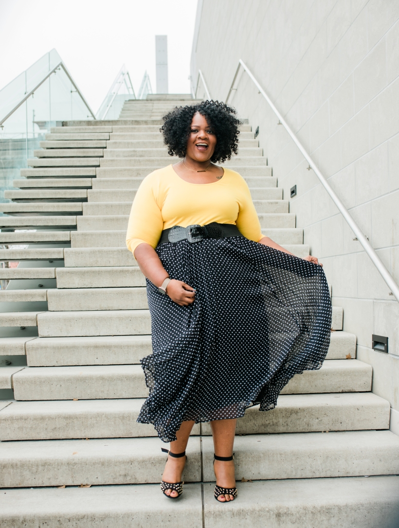 yellow and polka dots all spring