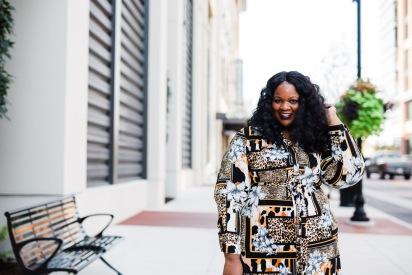 fabglance - fall 2019 - jessica london - printed dress